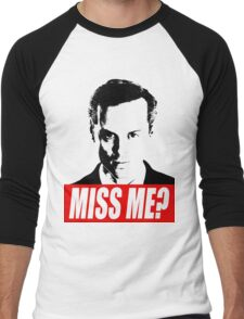 Miss Me? - Jim Moriarty - Sherlock Men's Baseball ¾ T-Shirt