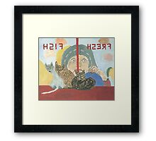 Cats in a Butcher shop Framed Print