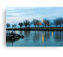 Shoreline Park - Twilight Reflections Canvas Print