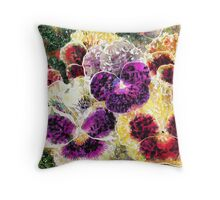 Pansies Flowers Abstract Throw Pillow