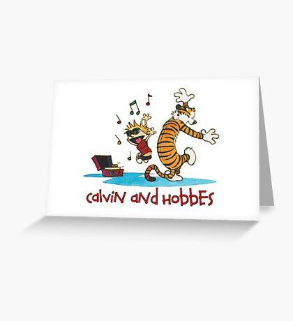 Calvin Hobbes Greeting Card