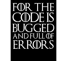 for the code  Photographic Print