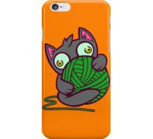 Kitty and Yarn iPhone Case/Skin