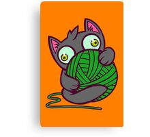 Kitty and Yarn Canvas Print