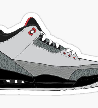 "Air Jordan III (3) ""Stealth"" Sticker"