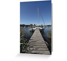 River mooring Greeting Card