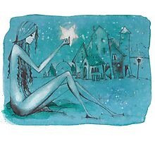 Stardust girl Photographic Print