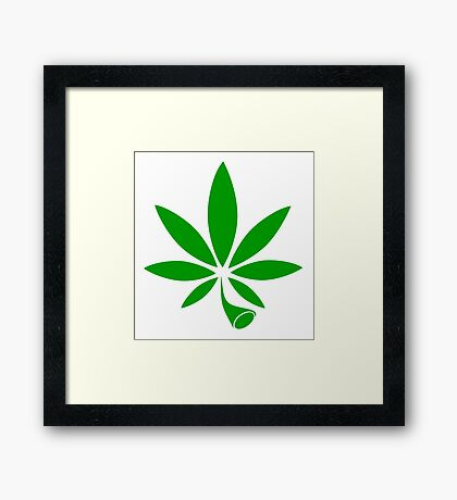 The All Mighty Weed Framed Print