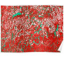 Red Pink Green Abstract Pattern Poster