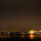 Firth of Forth Railway Bridge, Forth Road Bridge and the Big Dipper by Maria Gaellman