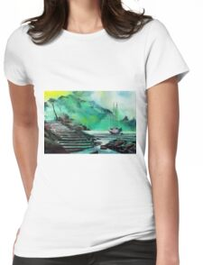 Anchored  Womens Fitted T-Shirt
