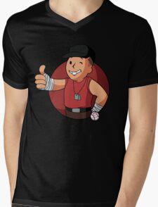 RED Scout Mens V-Neck T-Shirt