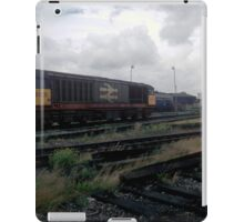 Class 58 British Rail freight locomotive at Saltley, 1985 iPad Case/Skin