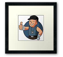 BLU Vault Scout Framed Print