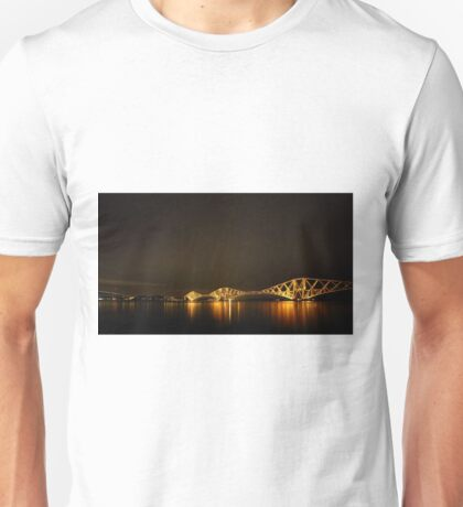 Firth of Forth Railway Bridge, Forth Road Bridge and the Big Dipper Unisex T-Shirt
