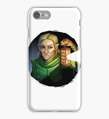 Elf With Lantern iPhone Case/Skin