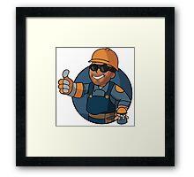 BLU Vault Engineer Framed Print