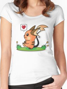 Shiny Raichu Women's Fitted Scoop T-Shirt