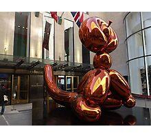 Balloon Monkey, Jeff Koons Artist, Rockefeller Center, New York City Photographic Print