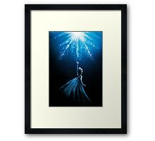 Frozen Heart Framed Print