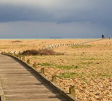 The boardwalk at Dungeness by Mortimer123
