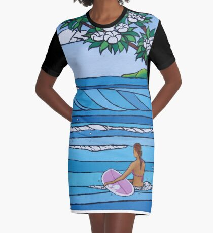 Perfect Paddle Out Graphic T-Shirt Dress