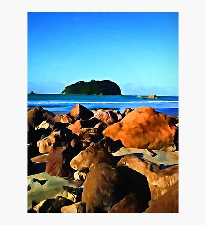 Little Island and Rocks Photographic Print