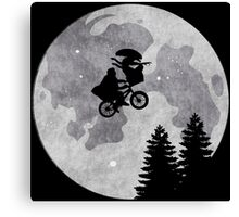 Xenomorph ET Moon Ride Canvas Print