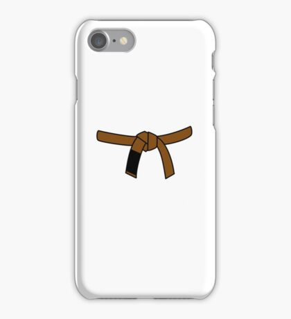 Brazilian Jiu Jitsu (BJJ) Brown Belt iPhone Case/Skin