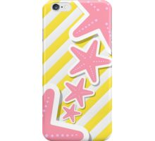 Pink Star With Yellow White Line Phone cases iPhone Case/Skin
