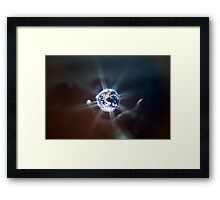 The World in the Palm of Your Hand. Framed Print