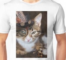 Steampunk Funny Cute Cat Unisex T-Shirt