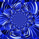 Blue Zebra Striped Flower by George Hunter