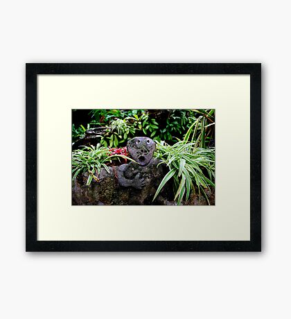 Shocked Rock Framed Print
