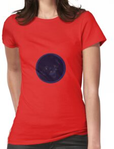 Flat Earth At Night Womens Fitted T-Shirt
