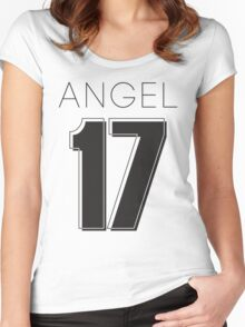 Angel Victoria 17 Text Typography Women's Fitted Scoop T-Shirt