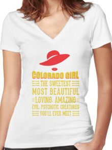 Colorado Girl Women's Fitted V-Neck T-Shirt