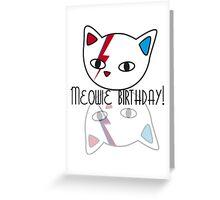 Meowie Birthday 3 Greeting Card