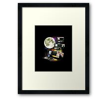 Computers in Space (Vintage Geek) Framed Print