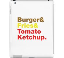 Burger & Fries & Tomato Ketchup. iPad Case/Skin