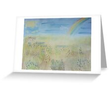 Summer Misty Meadow Greeting Card