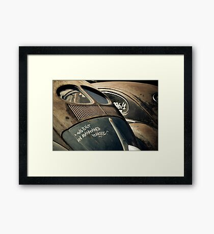 Not an Abandoned Vehicle Framed Print
