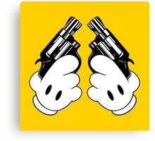 Toon Snubnosed Revolvers Canvas Print