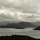 Lake Pedder under stormy skies, April 2014 by Odille Esmonde-Morgan