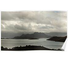 Lake Pedder under stormy skies, April 2014 Poster