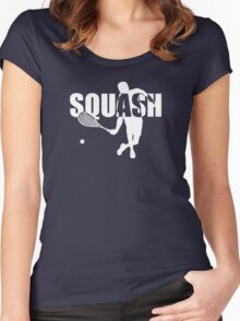 Stylish Squash Player Women's Fitted Scoop T-Shirt