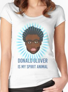 Donald Glover is my spirit animal Women's Fitted Scoop T-Shirt