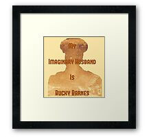 My Imaginary Husband Is Bucky Barnes Framed Print