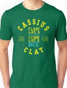 Cassius Clay Muhammad Ali Text Quotes Typography  Unisex T-Shirt