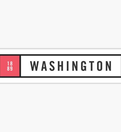 Washington - Minimalist #2 Sticker